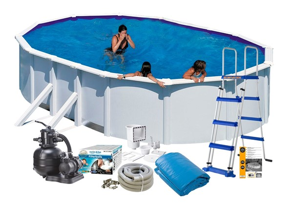 Pool Basic 6.10 x 3.75 x 1.20 m. White