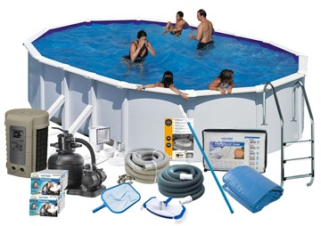 Pool Delux 6.10 x 3.75 x 1.32 m. White