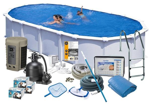 Pool Delux 9.15 x 4.70 x 1.32 m. White