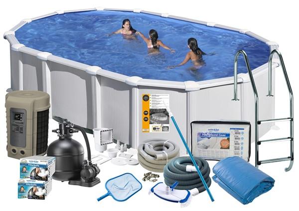 Pool Delux 7.30 x 3.75 x 1.32 m. White