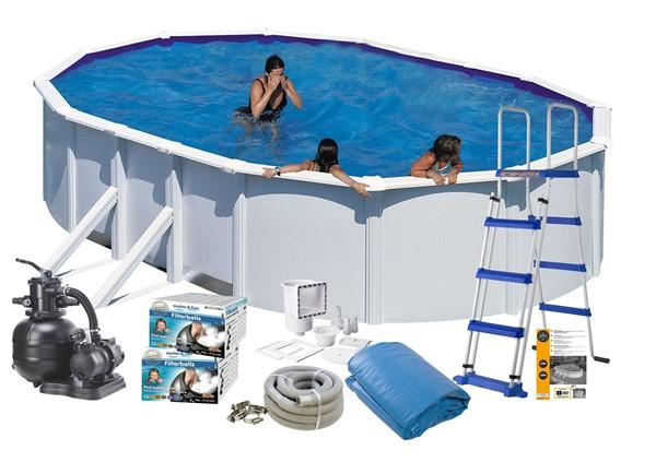 Pool Basic 7.30 x 3.75 x 1.20 m. White